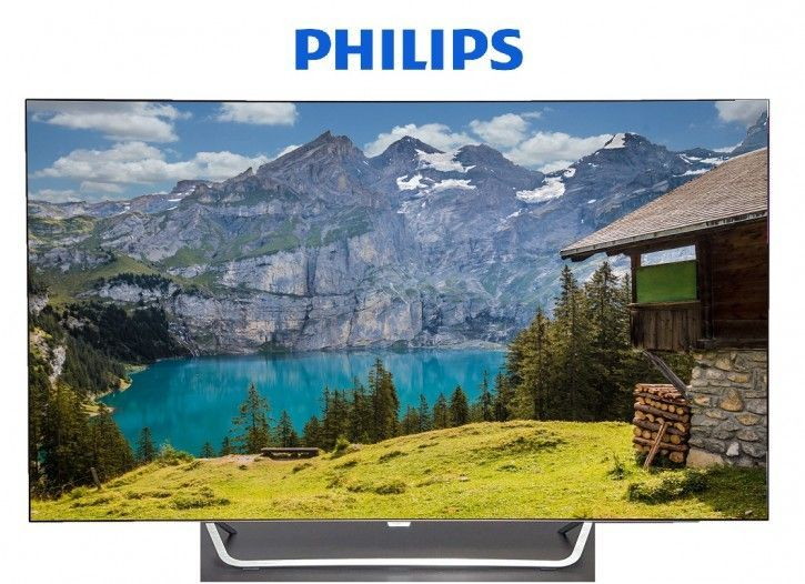 PHILIPS 65OLED873 OLED TV (Flat, 65 Zoll, OLED 4K, SMART TV, Android TV)