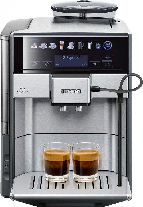 Siemens EQ.6 700 TE617503DE Kaffeevollautomat (1500 Watt, Direktanwahl durch Sensorfelder, oneTouch, DoupleCup ) edelstahl/mittelgrau