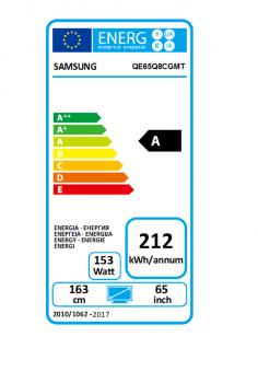 Samsung QE65Q8C curved QLED TV, EEK:A