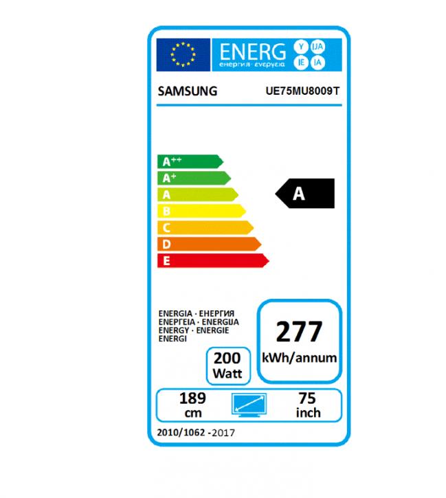 Samsung UE75MU8009 flat Premium UHD TV, EEK:A