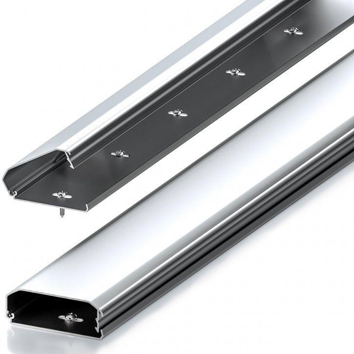 50cm Kabelkanal Alu gerundet Silber