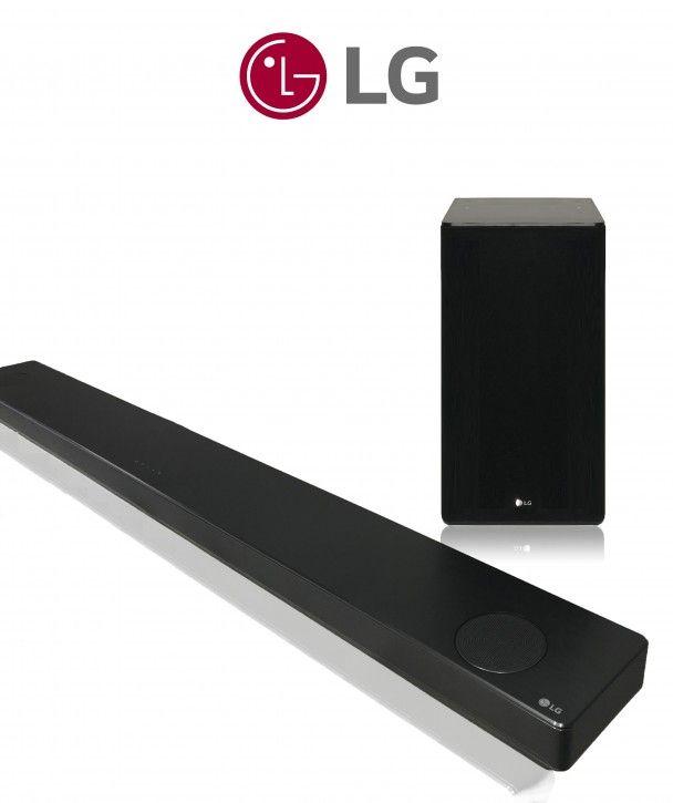 LG SL10YG 5.1.2 Dolby Atmos Soundbar mit drahlosem Subwoofer, 570W, Bluetooth, WLAN