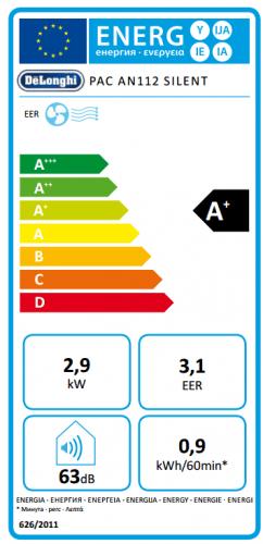 DeLonghi PAC AN112 Silent Klimagerät EEK:A+