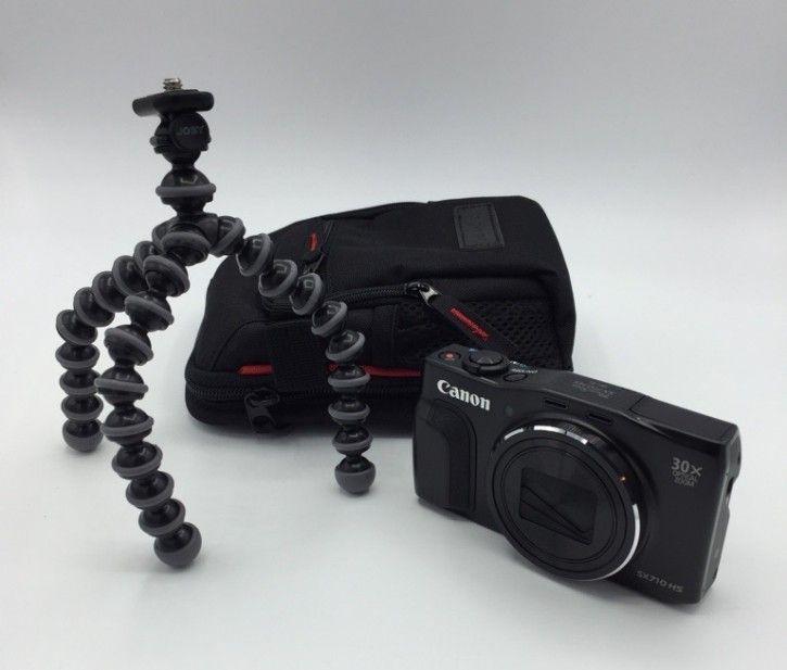Canon Power-Shot SX710 HS Travel Kit inkl. Tasche + Stativ