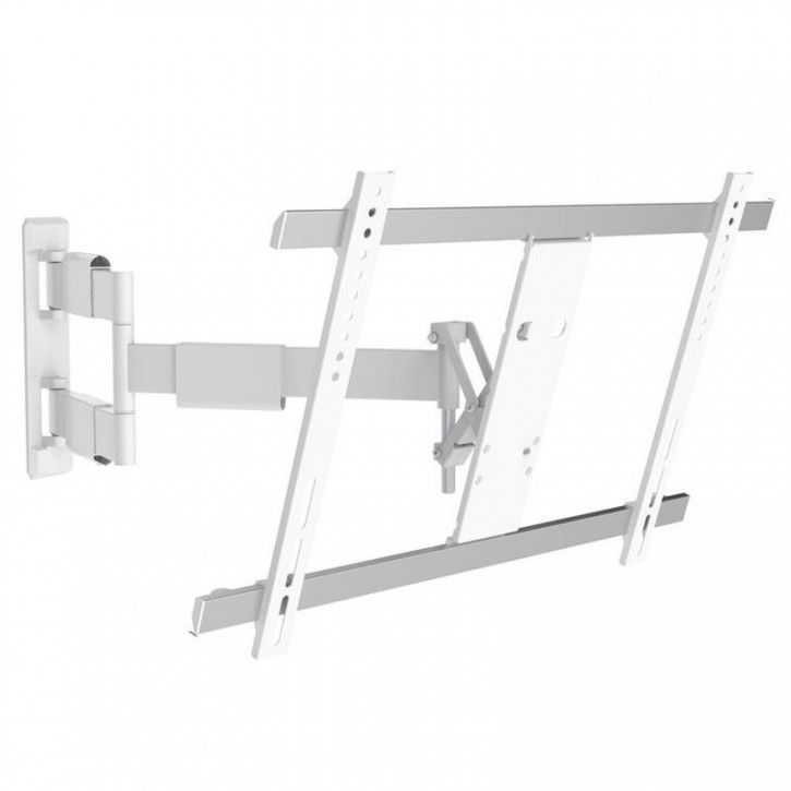 """Wandhalterung für TV Monitore 32-60"""" weiß ausziehbar, schwenkbar, neigbar, drehbar, ultraflachSlimline"""