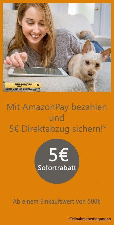 Mit AmazonPay bezahlen und Rabatt sichern