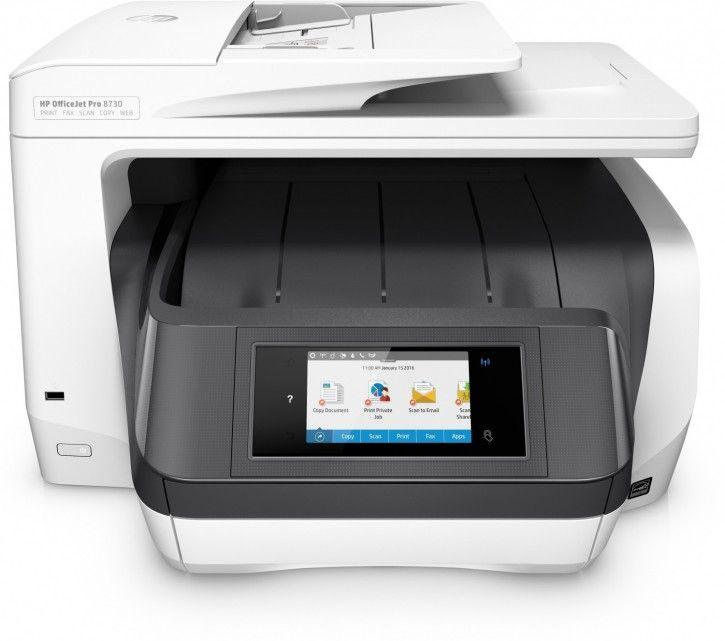 HP Officejet Pro 8730 Tintenstrahl, Faxfunktion, LAN, WLAN Drucker (B-Ware)