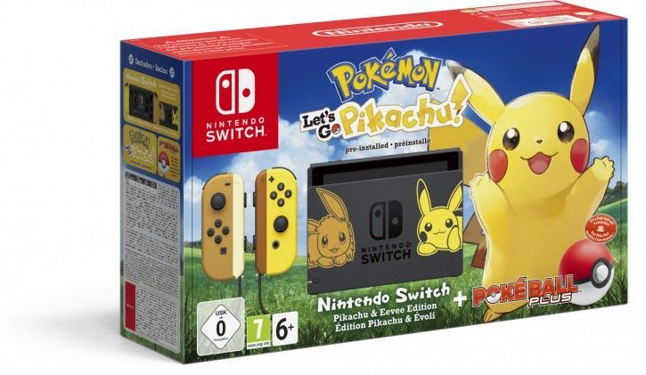 Nintendo Switch Konsole Let' s Go, Pikachu! (Bundle) Grau