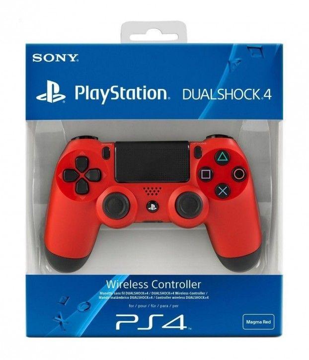 Sony Dualshock 4 Wireless Controller, rot