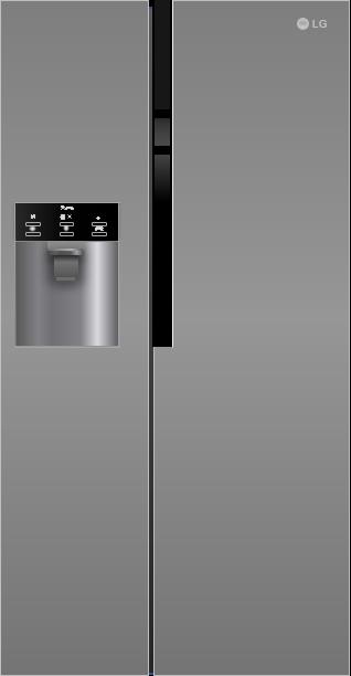 LG GSL 361 ICEZ Side by Side / Digitaldisplay mit Temperaturregelung / No Frost / dunkel graphite