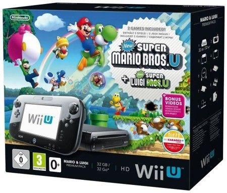 Nintendo Wii U Konsole Premium schwarz - inkl. Mario & Luigi U
