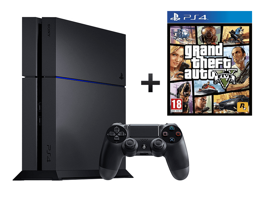 Sony PS4 C Chassis + GTA V + Dualshock wireless Controller