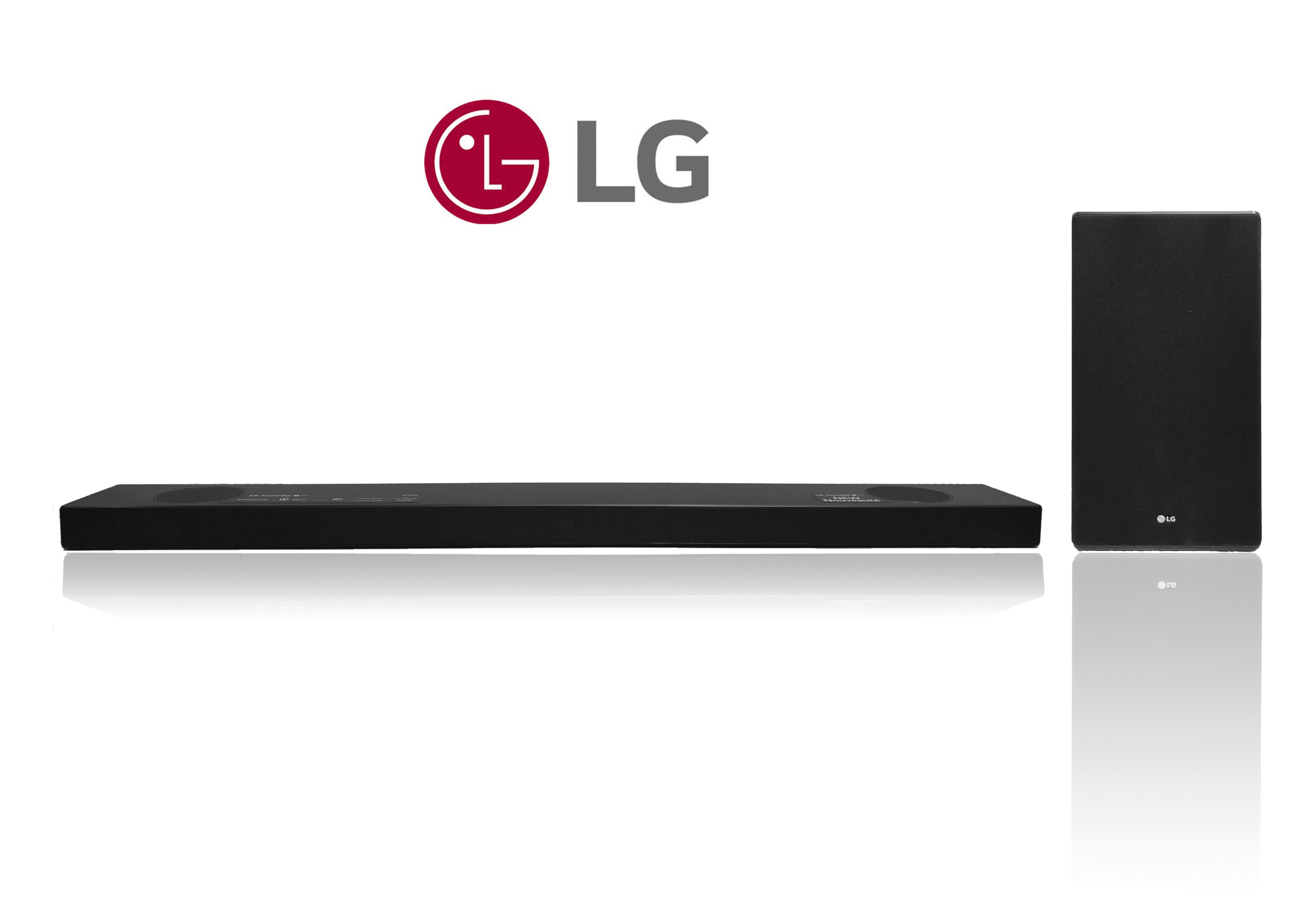 Logitech LG SL9YG 4.1.2 Dolby Atmos Soundbar mit drahtloser Subwoofer. 500 W, Bluetooth, WLAN