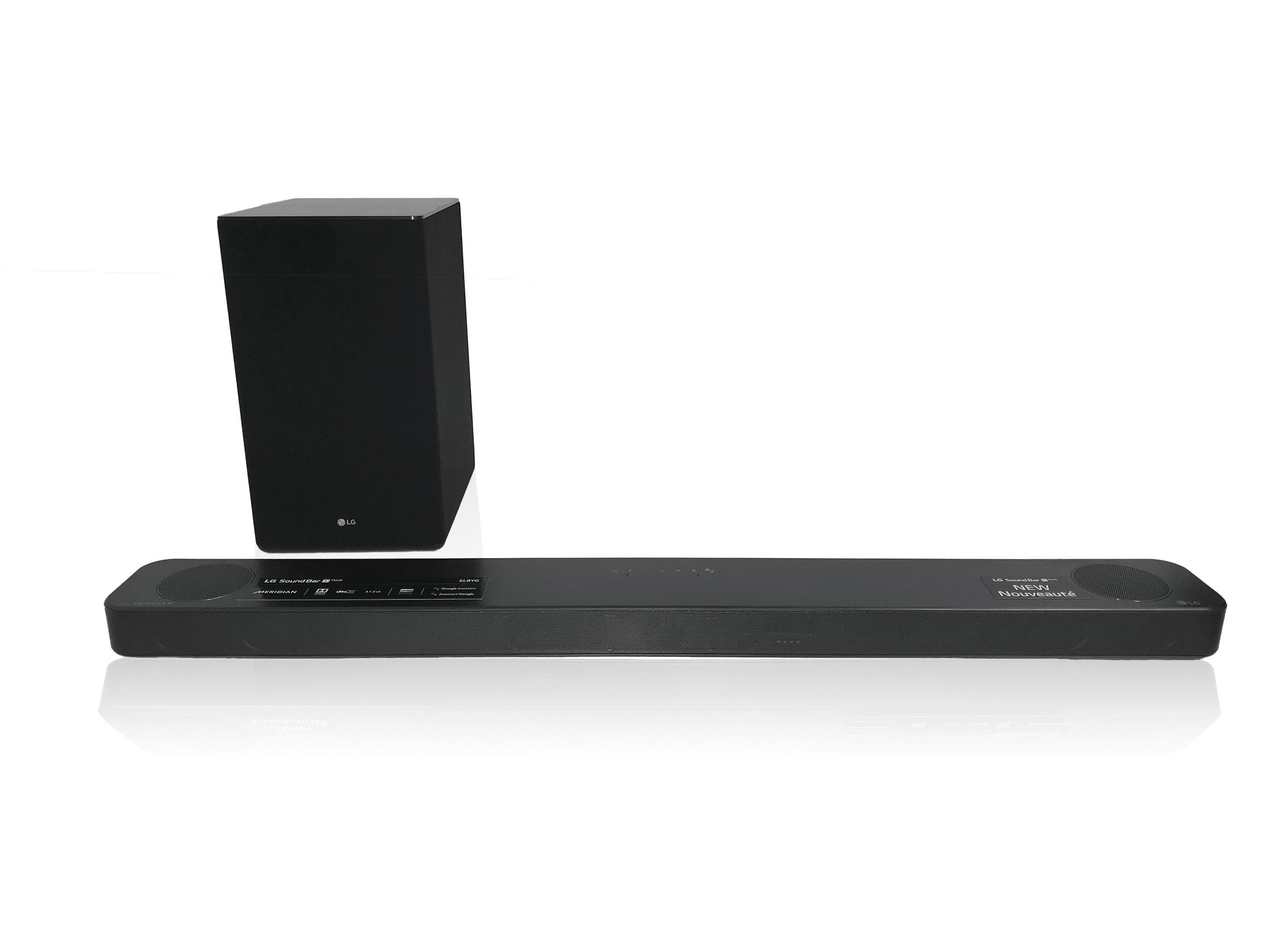 Logitech LG SL8YG 3.1.2 Dolby Atmos Soundbar mit drahtloser Subwoofer, 440 W, Bluetooth, WLAN