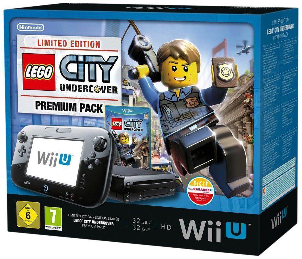 Nintendo Wii U Console Premium Pack 32gb Black Lego City