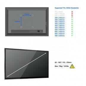 TV Wandhalterung für 60 bis 100 Zoll