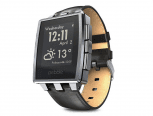 Pebble Steel Brushed Stainless Smart Watch silber