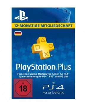 Sony Playstation 4 Plus Live Card - 365 Tage PS4
