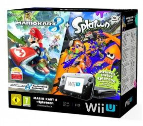 Nintendo Wii U Konsole Premium Pack, Mario Kart + Splatoon